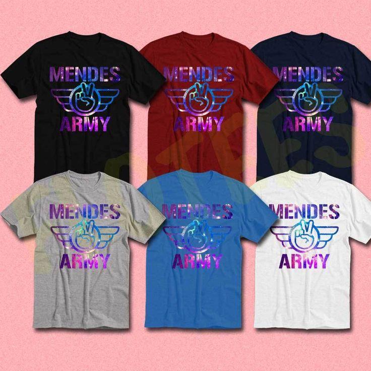 new shawn mendes army shirt handwritten illuminate tour world tee tshirt dates #unbranded