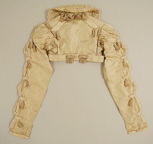 Spencer: giacchino corto appena sotto il seno, a maniche lunghe e accollato, usato come soprabito a cavallo fra la fine del XVIII e l'inizio del XX secolo