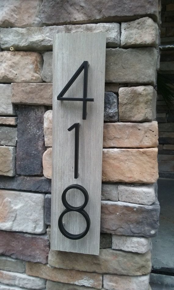 Barnwood Gray House Number Plaque by HomeStylePlaques on Etsy