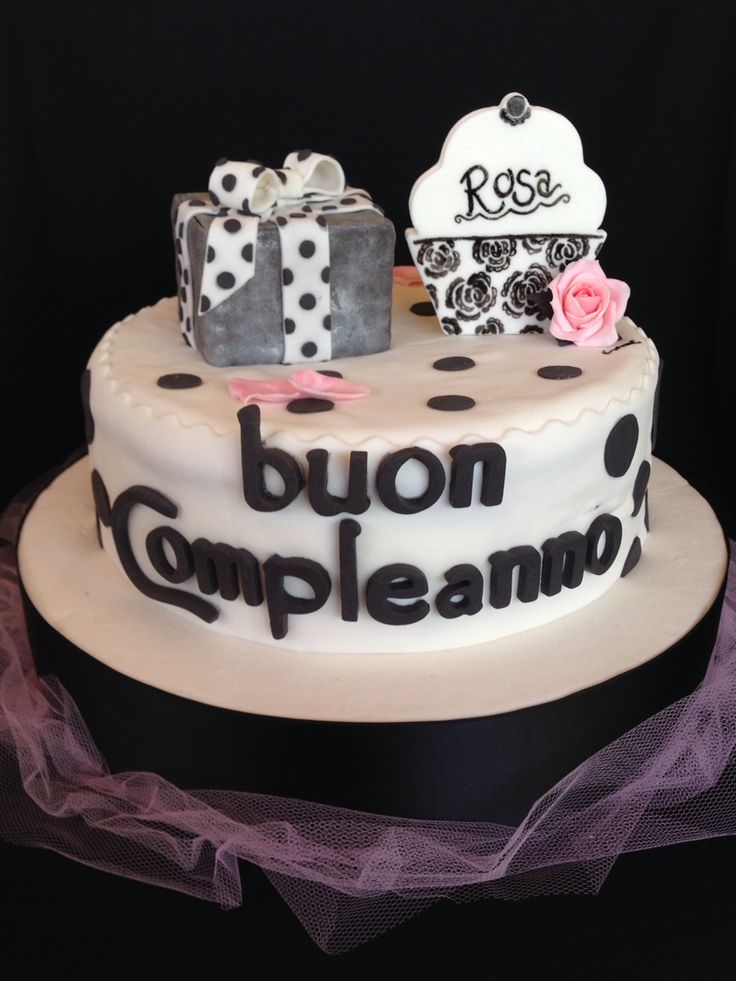 Birthday cake black&white