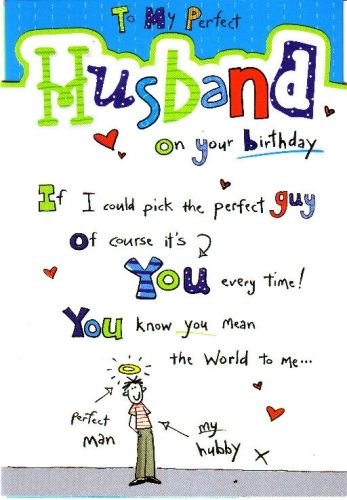 Husband birthday cards and