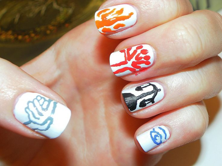 9 best fandom nails images on pinterest bird book worms and geek divergent nail art design prinsesfo Image collections
