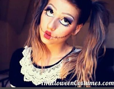 scary doll makeup for Halloween - Halloween Costumes 2013