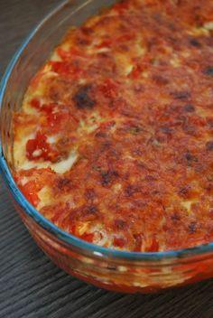 Gratin aubergine courgette mozzarella