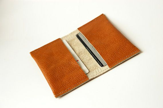 Russet Business Card Leather Holder Leather wallet by PansyBag