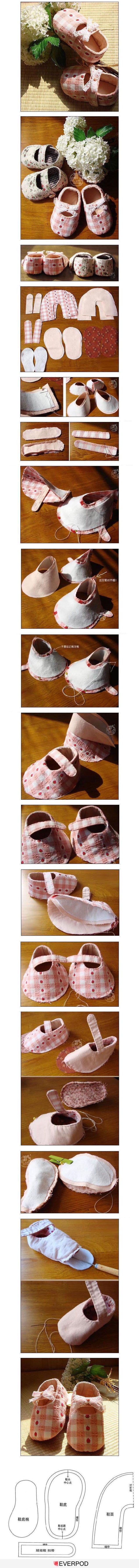 sapatinhos com moldes - 96195.com