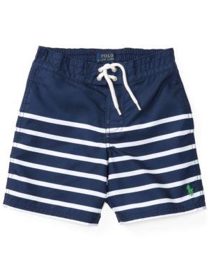 Ralph Lauren Striped Swim Trunks, Toddler Boys (2T-4T) & Little Boys (2-7) - True Navy 3/3T