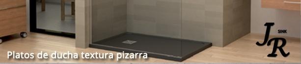 Platos de ducha textura pizarra. Diseño minimalista
