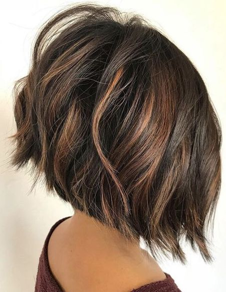 Asymmetric Sweep Bob Hairstyles 2018 Spring Season