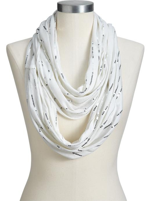 Old Navy Womens Sequined Infinity Scarf