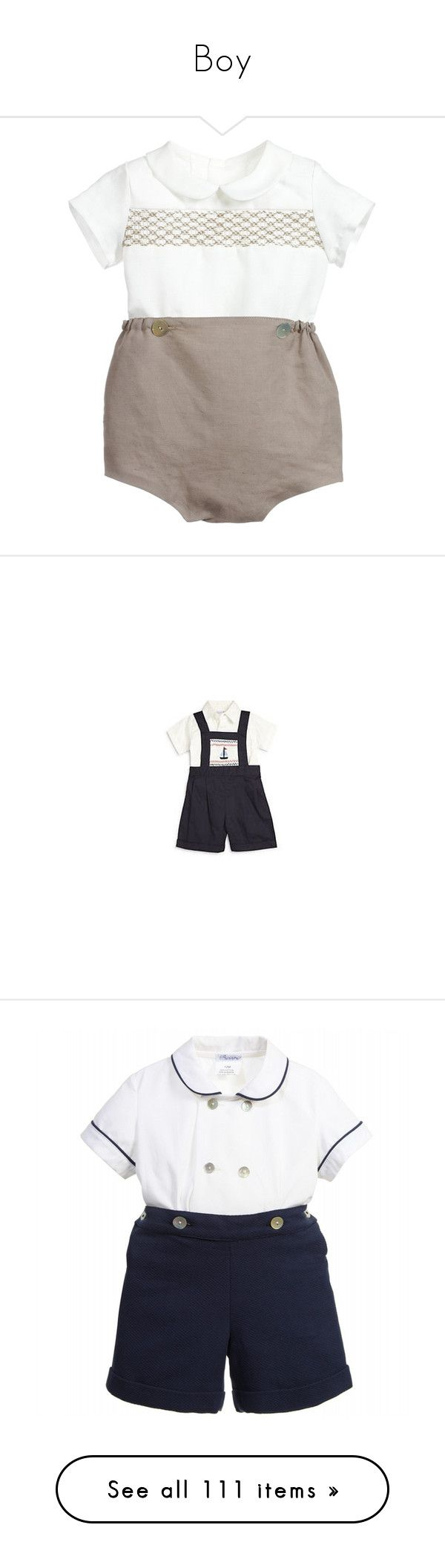 """""""Boy"""" by stylesroyals ❤ liked on Polyvore featuring tops, navy top, short sleeve polo shirts, blue polo shirts, striped top, navy blue polo shirts, jumpsuits, tailored jumpsuit, blue jumpsuit and strappy jumpsu"""