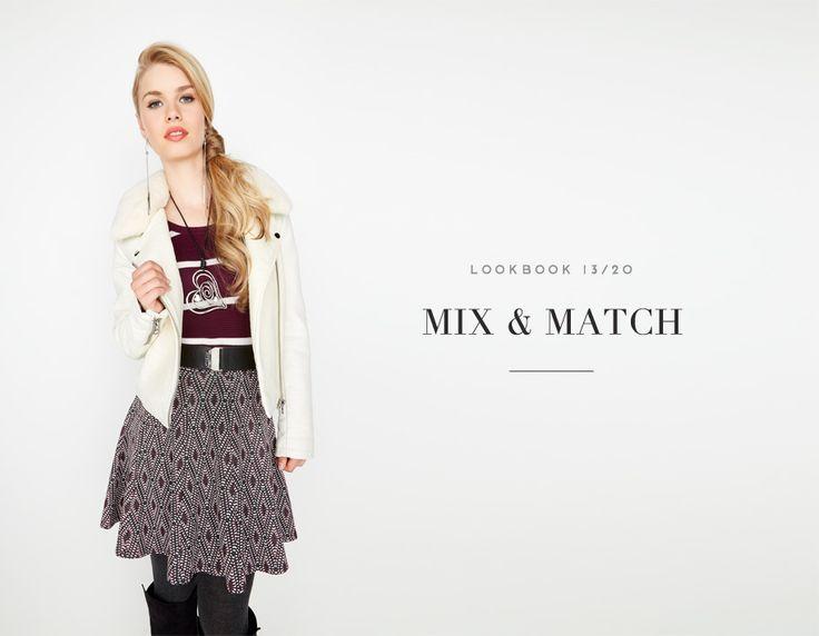 MIX & MATCH // IN THE MIX #jacket #sweater #violet #pattern #skirt #mode #fashion #femme #women #lookbook #fw16