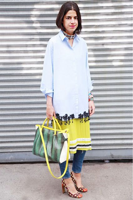 An Ode To Leandra Medine | Tour de STFU. Layering outfit. Color combo. Dress over pants.