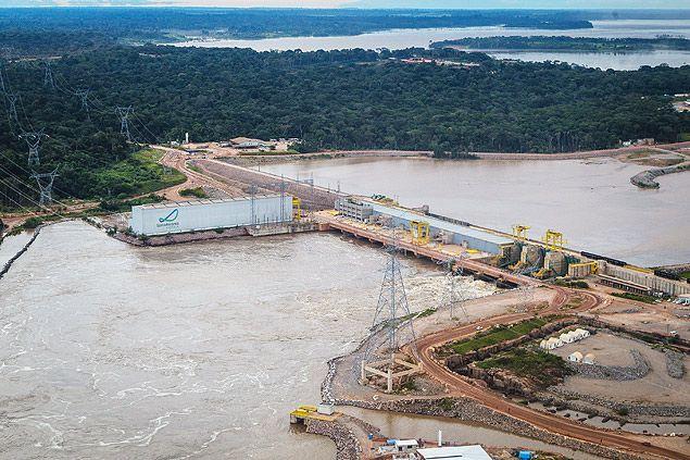 Vista aérea da Usina Hidrelétrica de Santo Antonio