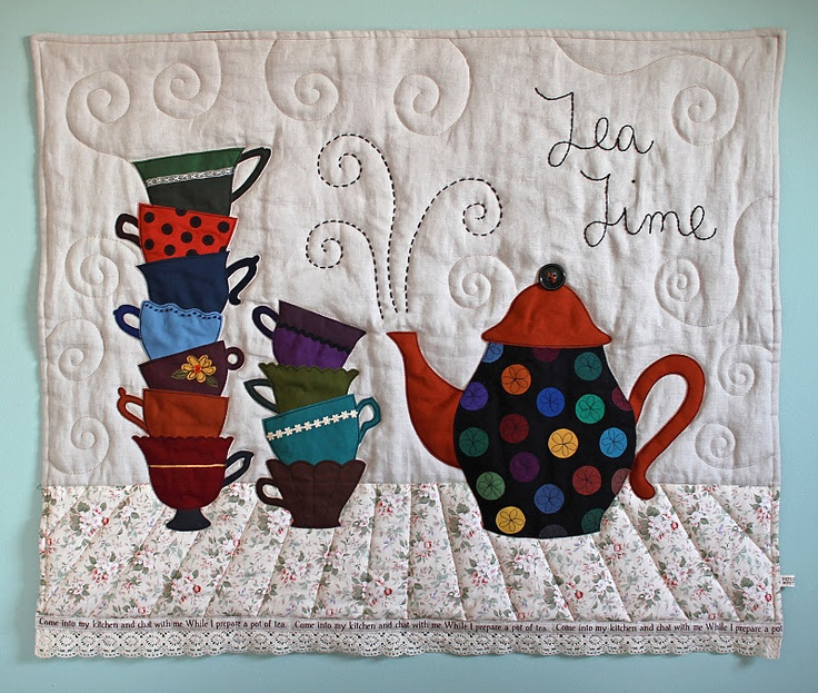 TEA Theme and Polka Dots Teapot