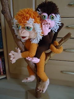 Crocheted Lionhead Monkeys by Amigurumi Artist