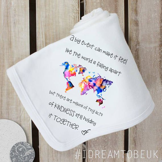 A BIG event..tiny acts of kindness super soft baby blanket.
