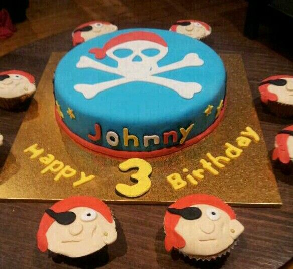 Pirates cupcakes cute xxx #partycakefun