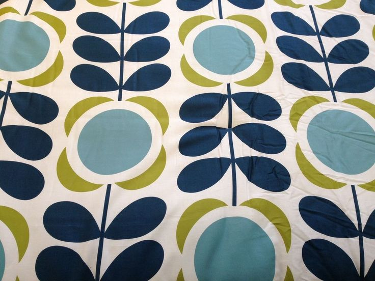 Roman Blind RARE Orla Kiely Field of Flowers Interlined Mechanised Track MTM in Home, Furniture & DIY, Curtains & Blinds, Blinds | eBay
