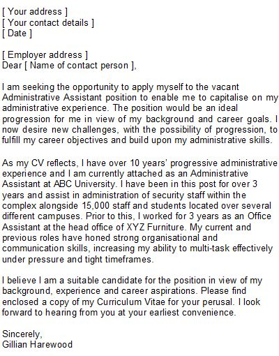 Best Executive Assistant Cover Letter Examples Livecareer