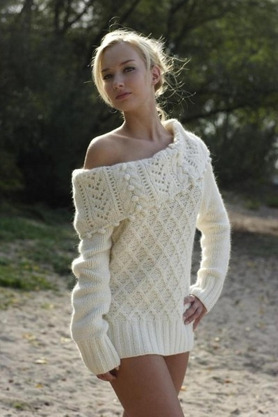 knitted one shoulder fashion    Keep the Glamour   BeStayBeautiful