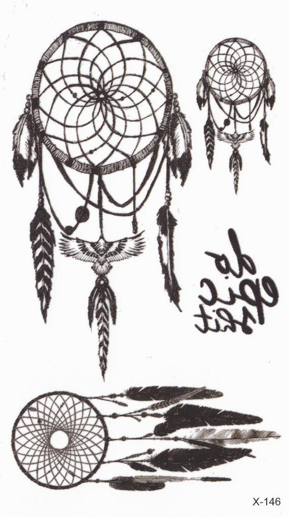 Dreamcatcher Tattoo kleine temporäre Tattoo Tattoo von MyBodiArt