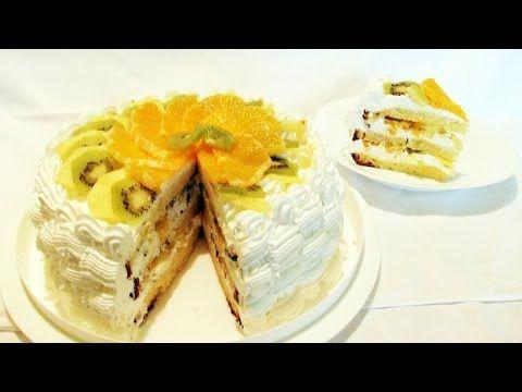 Tort de Fructe / Fruit Cake - YouTube