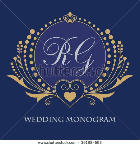 Vintage vector monogram. Elegant emblem logo for restaurants, hotels, bars and boutiques. It can be used to design business cards, invitations, booklets and brochures.