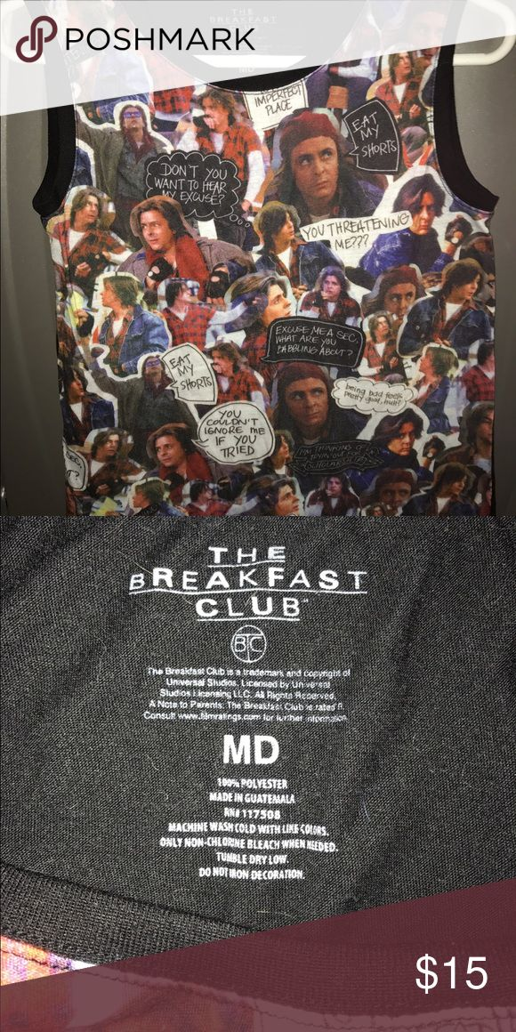 Breakfast Club, Judd Nelson tank top tank top with black back, and judd nelson face and quotes on front from the breakfast club. Tops Tank Tops