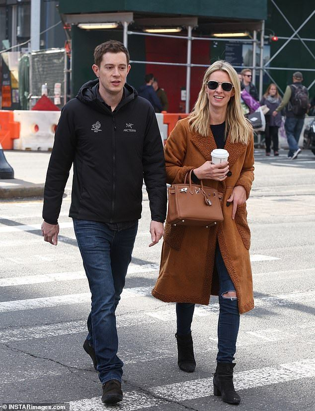 fdfbd102e Big Apple  Nicky Hilton bundled up alongside her elusive second husband