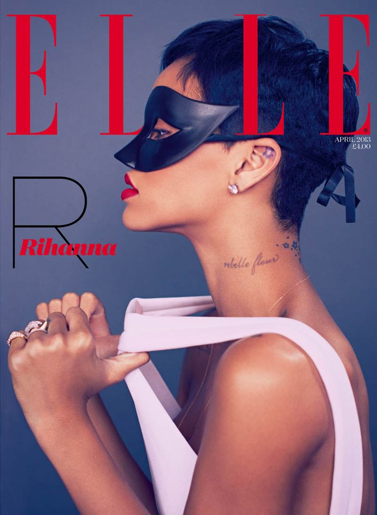 Rihanna Stars in Elle UK's April Cover Shoot by Mariano Vivanco | Fashion Gone Rogue: The Latest in Editorials and Campaigns