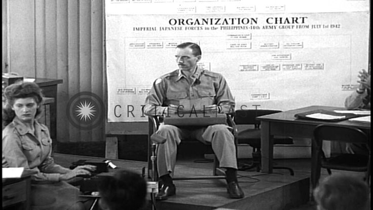 Major Tisdell reads out a Japanese note to the Americans during the trial of Gene...HD Stock Footage - YouTube