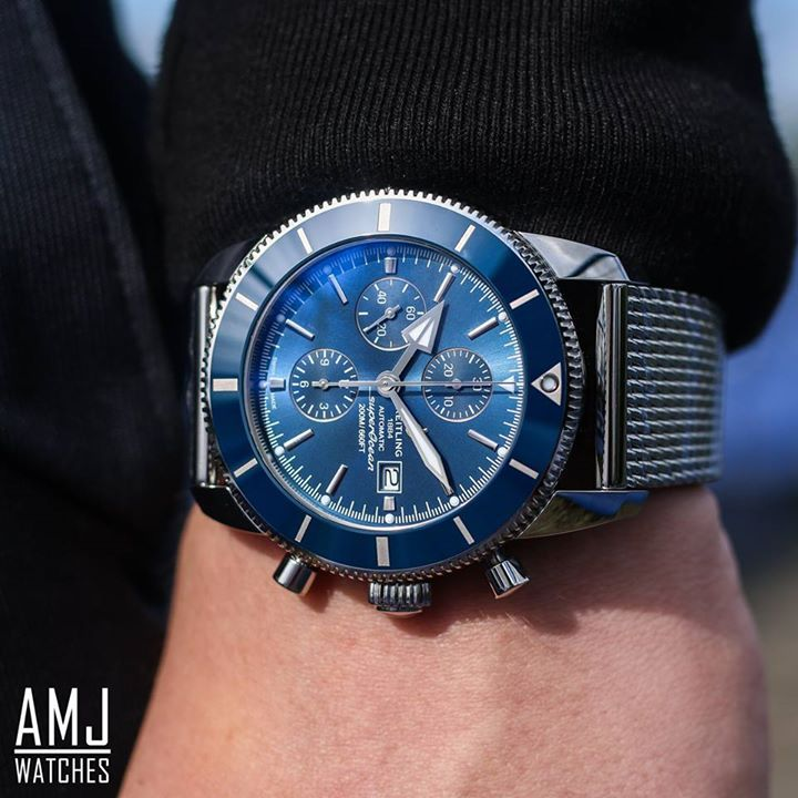 BREITLING SUPEROCEAN HÉRITAGE II CHRONOGRAPHE  AVAILABLE WITH 0% FINANCE & FROM £78.00 PER MONTH...  CLICK LINK & FINANCE AVAILABLE: http://amjwatches.co.uk/breitling-superocean-h-ritage-ii-chronographe-p20562.html  SUPEROCEAN HÉRITAGE II CHRONOGRAPHE Dedicated to all modern-day explorers, this pioneer of wide-open spaces – heir to a legendary 1957 model – combines an original, pure and dynamic dial with a high-tech bezel and cutting-edge performance. The sturdy steel case, water-resistant…