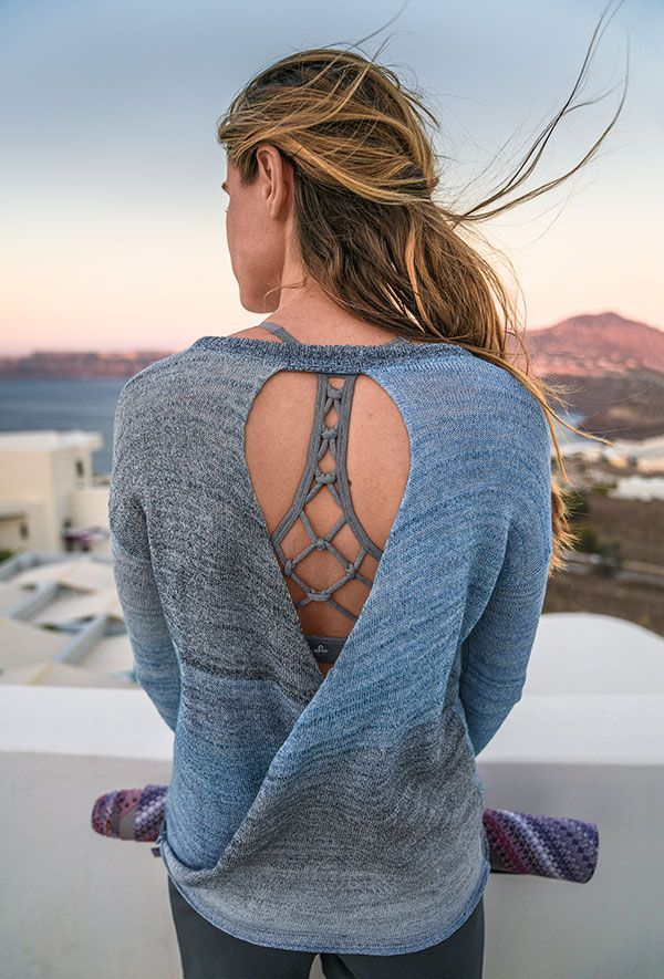 Yoga tops with beeautiful back-detail