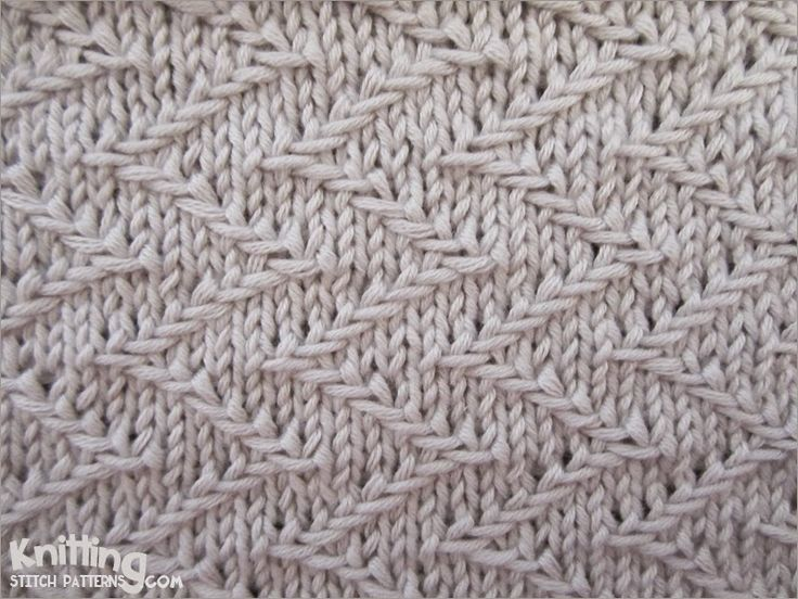 zigzag-chevron-stitches | Knitting Stitch Patterns #knitSwatch (instructions for the pattern on the site)