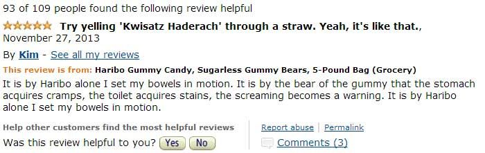Beware Of The 5 lb. Bag Of Sugarless Gummy Bears On Amazon.com – The Reviews Are Priceless! | Slightly Viral