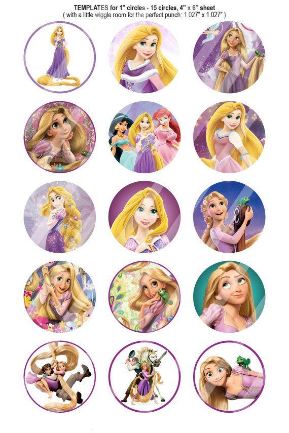 151 Digital Bottle Cap Images Disney Princess By