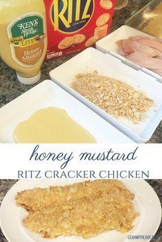 honey mustard ritz cracker chicken strips recipe.