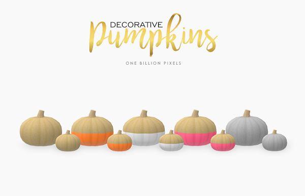 Decorative Pumpkins (The Sims 4) - One Billion Pixels