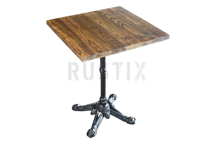 Cafe Table Top - Dark Grey Willow from Rustix Furniture