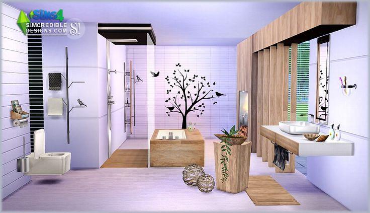 My sims 4 blog modernism bathroom set by simcredible for Bathroom ideas sims 4