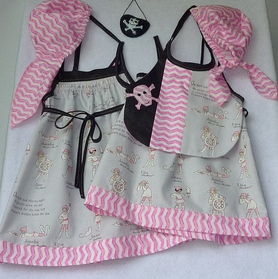 Baby Pirate Outfit Party Outfit Comprises of Dress by TwinsFromOz, $80.00