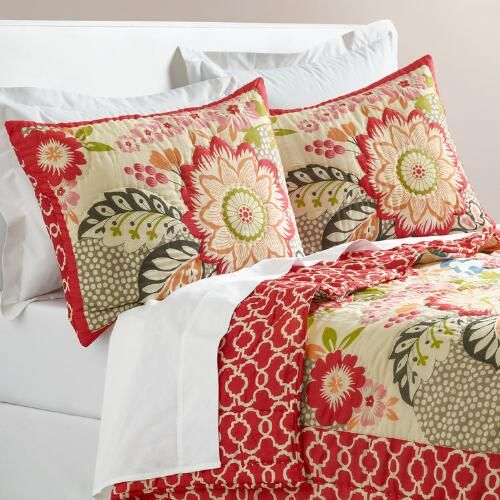 One of my favorite discoveries at WorldMarket.com: Floral and Geometric Darby…