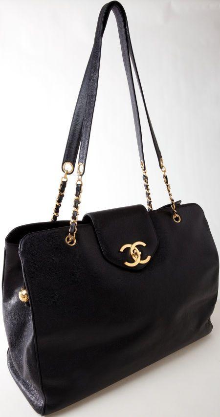 65b7517134db2a Heritage Vintage: Chanel Rare Black Caviar Leather Large Weekender Bag -  handbag, travel, louis vuitton, homemade, dior, handmade purse *ad