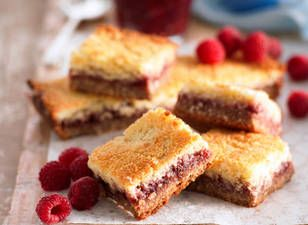 Coconut And Raspberry Jam Slice Recipe | Note: 1 Australian tablespoon = 4 US teaspoons, 350F = 180C