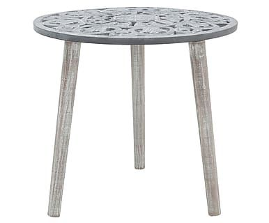 Стол - дерево - серый, 48х48х45 см