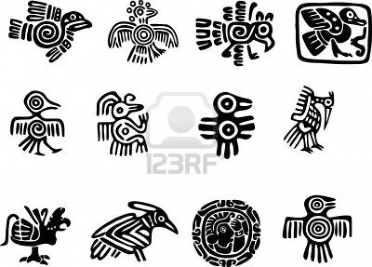 Mexican or maya motifs