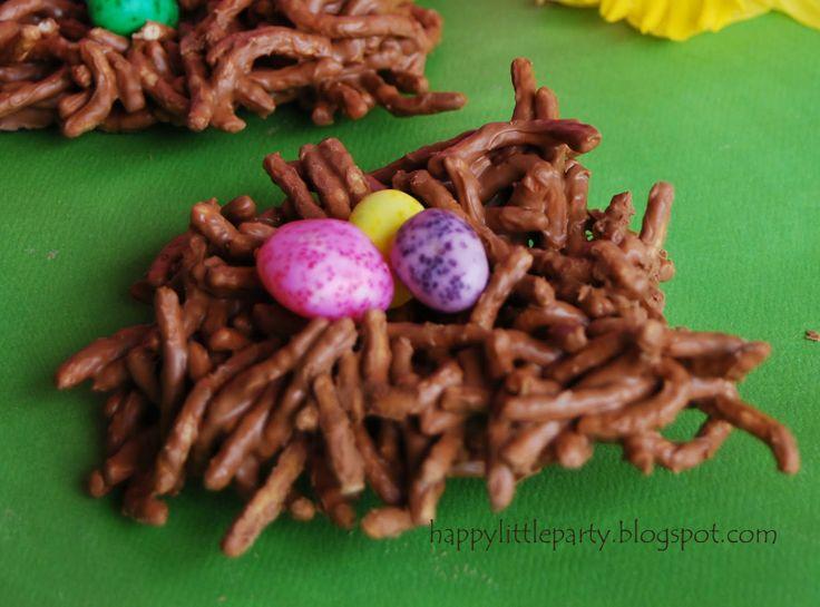 easter craft, nest: Kids Food Crafts, Birds Nests, Preschool Food Crafts, Easter Crafts, Bird Nests, Crafts Ed Spring, Parties Kids, Easter Treats, Spring Crafts