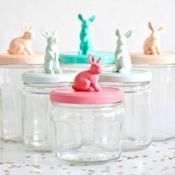 Bunny jars for Easter tutorial, great gift idea!