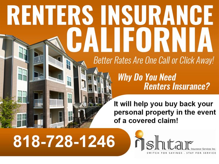 Why do you need Los Angeles renters insurance? Because it will help you buy back your personal property in the event of a covered claim! For better rates on California renters insurance call Ishtar Insurance today or visit www.ishtarinsurance.com